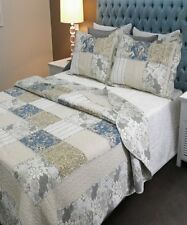 Brand New 100% Cotton King Bed Coverlet / Bedspread Set
