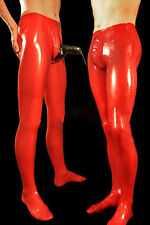Latex Men Pants with Cock Condom Rubber Trousers Gummi 0.4mm Customize Plus Size