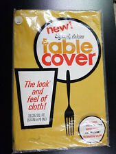 """Vintage Softcel Deluxe Table Cover / NEW, UNUSED / 26.25 square feet / 54"""" x 70"""""""