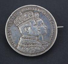 Krönungsthaler Krönungstaler broschiert WILHELM AUGUSTA 1861 SUUM CUIQUE
