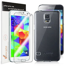 [+Clear HD Film] World's Thinnest Samsung Galaxy S5 Hard Crystal Air Jacket Case