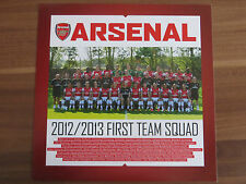 Autogrammkarte MANNSCHAFTSBILD FC Arsenal London 12/13 2012/2013 Podolski...