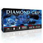 Microflex MF-300-M Powder Free Diamond Grip Latex Gloves Medium / 100 per Box