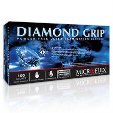 Microflex MF-300-M Powder Free Diamond Grip Latex Gloves Medium / 100 per Box