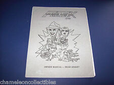 DEAD ANGLE By FABTEK 1988 ORIGINAL VIDEO ARCADE GAME OPERATORS SERVICE MANUAL