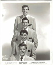 Original 1950's Photo of The Four Coins, Singing Group  8 X 10