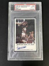 1988 Bulls Entenmann's Michael Jordan BLANK BACK #23 PSA 9 MINT