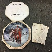 Hamilton 1993 The Last Warriors WINTER Of '41 American Indian Horse, w/COA