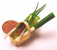 6 Misto vegetali in un paniere DOLLS HOUSE miniatura vegetale Punnet Accessorio L