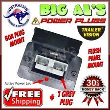 50 Amp Anderson FLUSH PANEL DASH Mount Mounting Dust Cover Bracket + 1 GREY PLUG