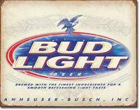 "Bud Light Budweiser Beer Rustic Tin Metal Sign 16"" x 12.5"""