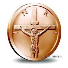 1 UNZE KUPFER - JESUS / GOTT / AM KREUZ / KREUZIGUNG - KUPFERBARREN - MÜNZE