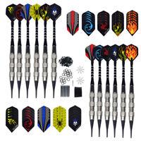 Dartpfeile 12 Stücke Softdarts + Flight Set Darts Pfeile mit Kunststoffspitze DE