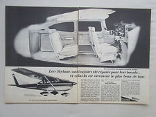 7/1966 PUB CESSNA AIRCRAFT AVION CESSNA SKYLANE FLUGZEUG ORIGINAL ADVERT