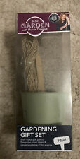 Gardening Gift Set With Metal Pot,pencil,5wooden Plant Labels&gardening Twine10m