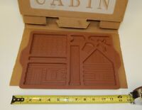 Longaberger Pottery Country Cabin Gingerbread House & Man Cookie Mold Kit MIB