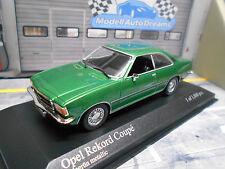 OPEL Rekord D Coupe grün green met 1975 Minichamps PMA Sonderpreis 1:43