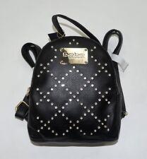 BEBE Black Studded Rhinestone Adorned Gemma MINI Backpack