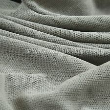 10 Metres Of Soft Luxurious Chenille Heavily Textured Silver Upholstery Fabric