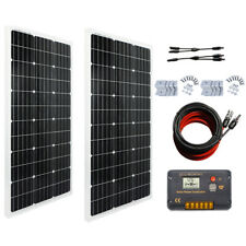 ECO 100W 200W Watt Solar Panel Kit High Efficiency For RV Motorhome Trailer Home