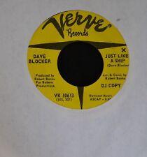 Dave Blocker Verve DJ 10613 Just Like A Ship and River Where Do You Go