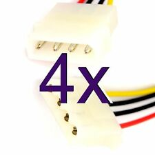 [4 pack] 50cm Power Extension Cable 4 pin LP4 Molex Male to Female [005778]