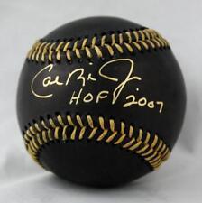 Cal Ripken Jr Autographed Black Rawlings OML Baseball W/ HOF- JSA W Authenticate