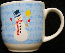 Hershey's Christmas Coffee Cup/Mug w/Snowman,Hugs & Kisses ,Happy Holidays