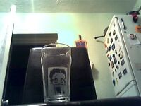 Betty Boop Personalised Etched Engraved Beer Pint Glass