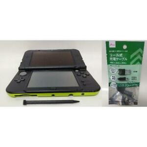 New Nintendo 3DS LL XL Lime Green Black Handheld System Console Used W/ Charger