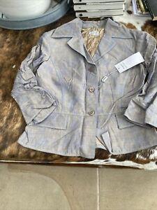 philosophy di alberta ferretti Linen Mix Jacket Rrp £425 Bnwt A Bit Crumpled