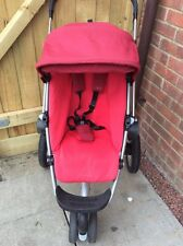 Quinny Buzz Red Rumour Full Seat Unit ONLY With 0-4 Cover Hood & Chest Pads VGC