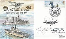 7RN15 Centenary Naval Volunteer Reserves Triple Signed Fraser,Ellis,Massie Taylo