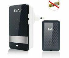 Self-powered Waterproof Push Button Doorbell Outdoor Wireless Door Bell Receiver