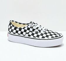 Womens Vans Authentic Platform White Black Checkerboard Skate Shoes Sneakers
