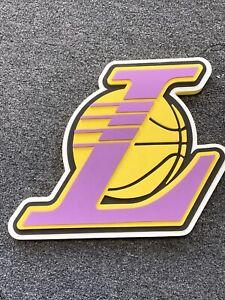 NBA Los Angeles Lakers 3D LOGO MAN CAVE WALL FOAM SIGN GAME ROOM BAR DISPLAY