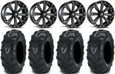 "Msa Black Kore 14"" Utv Wheels 27"" Mud Lite Ii Tires Yamaha Viking Wolverine"