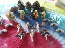 16 Piece Lot Bonsai Mudman China Clay Figurine Huts House Water Buffalo Bridges
