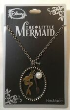 DISNEY - LITTLE MERMAID Silhouette Dangle Pendant Necklace Dinglehopper & Pearl