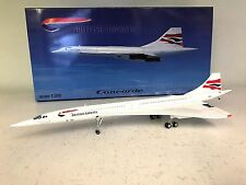 Concorde British Airways G-BOAC (with stand) a metal model in 1/200 scale