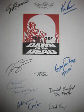 Dawn of the Dead 1978 Signed Script X10 George A Romero Ken Foree David Emge rp