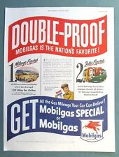 Dated Original 1951 Mobil Ad DOUBLE PROOF MOBILGAS IS THE NATION'S FAVORITE