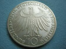 GERMANY 10 mark 1972 F UNC Silver 1972 Munchen Olympic games Sport