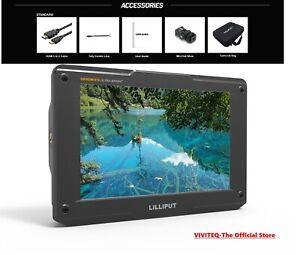 """Lilliput H7 4K 7"""" Monitor Campo Ultra Brillante 1800nit HDMI In&out 3D Lut"""