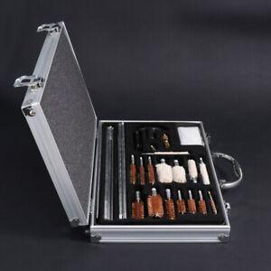 126pcs Gun Cleaning Tools Set Pistol Rifle Shotgun Firearm Cleaner Kit Universal