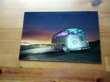 VW Camper Van Surf Glass Wall Art 30 X 20cm  Picture  brand new in box