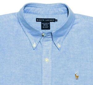 Ralph Lauren Men's 16 x 32/33 Button Down Shirt Multicolor Pony Cornflower Blue