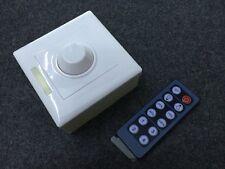 12V 8A LED PWM Dimmer with 12-key IR Remote Brightness Control Wall Switch