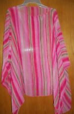 Petra Fashion's Women's Striped Poncho- Size O/S