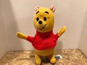 "Vintage 1966 DISNEY WINNIE THE POOH Gund plush Standing 6"" Filled W Wood Chips"